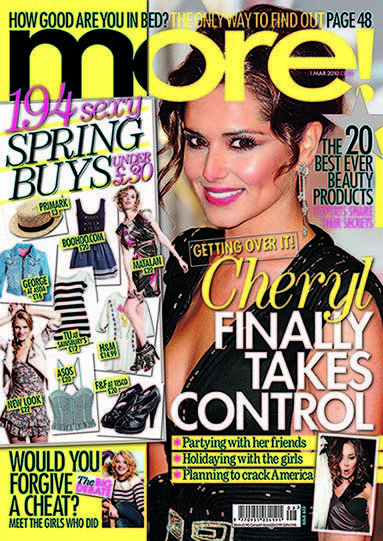 Cheryl Cole - More! Magazine Cover [United Kingdom] (1 March 2010)