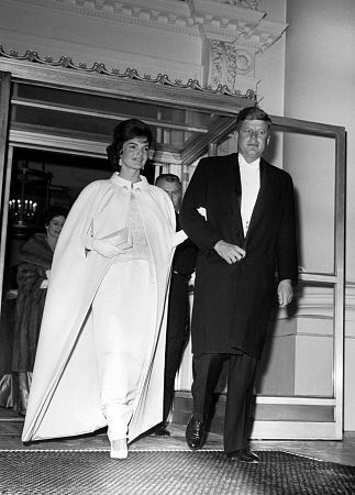 Jacqueline Kennedy  Onassis and John F. Kennedy