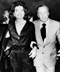 Jacqueline Kennedy Frank Sinatra and  Onassis