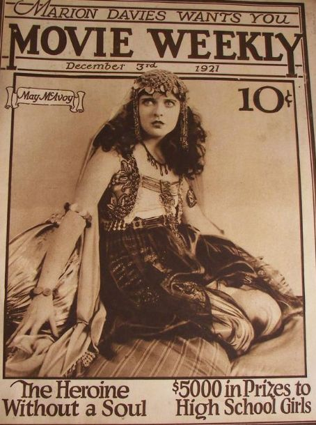 May McAvoy - Movie Weekly Magazine [United States] (3 December 1921)