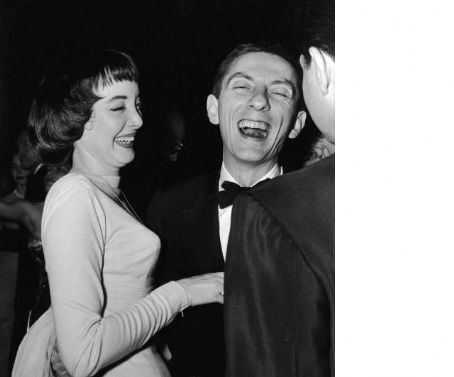 Carolyn Jones  and Aaron Spelling at another Hollywood party