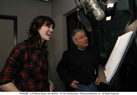 Rapunzel (L-R) Mandy Moore, Alan Menken. Ph: Eric Charbonneau. ©Disney Enterprises, Inc. All Rights Reserved.