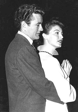Ava Gardner  and Robert Walker