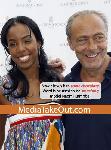 Kelly Rowland  and Fawaz Gruosi