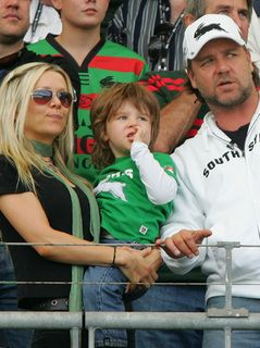 Russell Crowe Danielle Spencer and