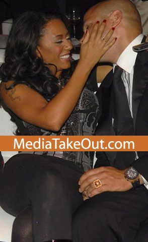 Melanie Brown  and Stephen Belafonte