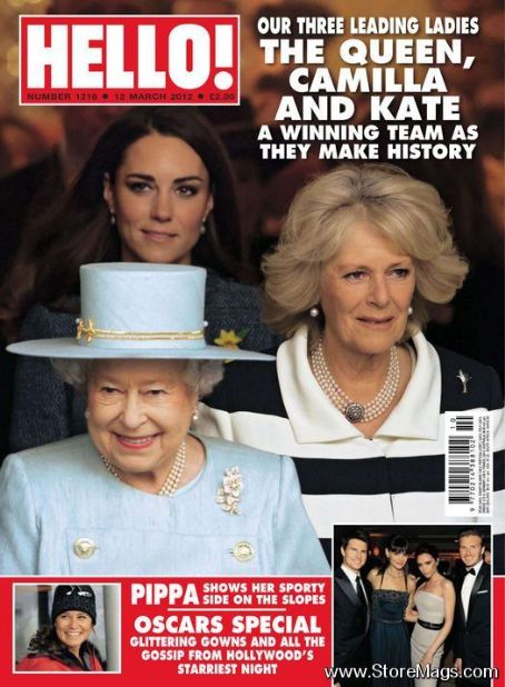 Queen Elizabeth II, Kate Middleton, Camilla Parker-Bowles - Hello! Magazine Cover [United Kingdom] (12 March 2012)