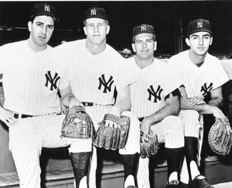 Joe Pepitone Clete Boyer, Tony Kubek, Bobby Richardson &