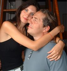 Bret Hart  and Cinzia Hart