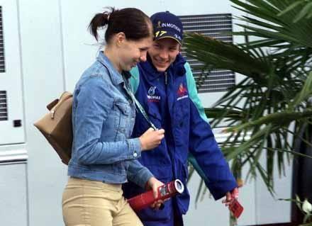 Kimi Räikkönen  and Hanna Raivisto