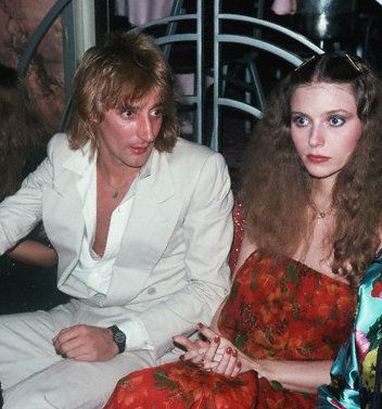 Rod Stewart Bebe Buell and