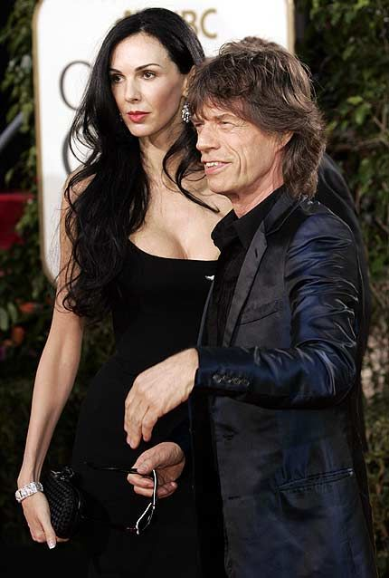 Mick Jagger L'Wren Scott and  at 62nd Annual Golden Globe Awards - 16 January 2005