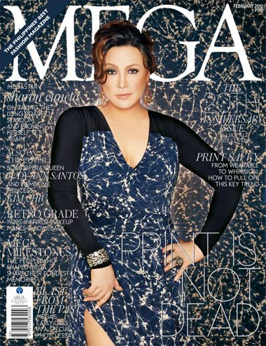 Sharon Cuneta - Mega Magazine Cover [Philippines] (February 2012)