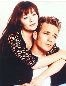 Beverly Hills, 90210 Luke Perry and Shannen Doherty