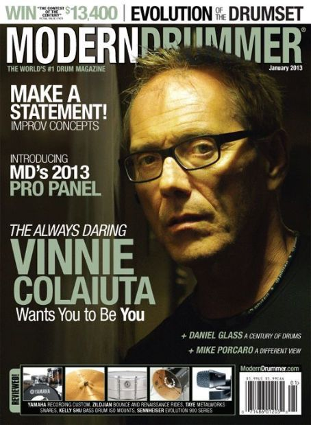 Vinnie Colaiuta - Modern Drummer Magazine Cover [United States] (January 2013)