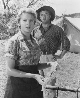 Robert Mitchum  and Deborah Kerr