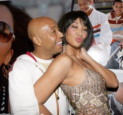 Kimora Lee Simmons and Russell Simmons