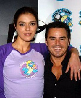 Adrianne Curry  and Christopher Knight