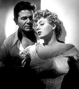 John Garfield  and Shelley Winters