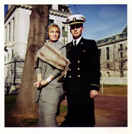 Mary Goodneighbor In the Spring of '59,—  (aka. Irma The Body) poses for a series of formal Engagement photos on the property of the State Capitol; in Maryland