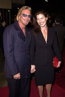 Mickey Rourke  and Carre Otis