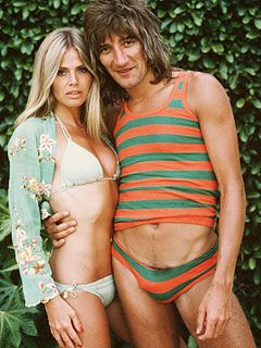 Rod Stewart Britt Ekland and