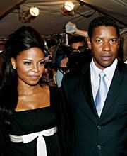 Sanaa Lathan  & Denzel Washington