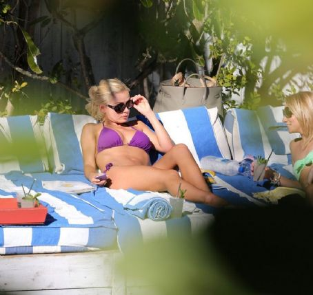 Katherine Jenkins - KATHERINE JENKINS in Bikini at a Pool in Miami