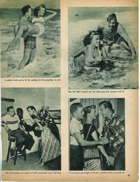Dorothy Malone Scott Brady &  at the beach