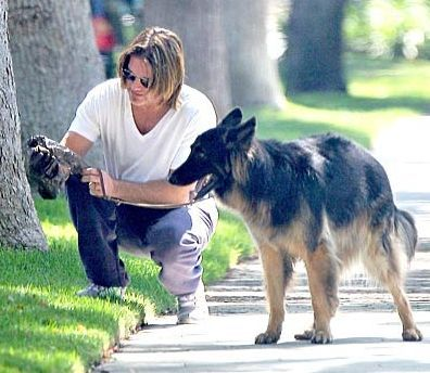 Billy Ray Cyrus  And Dog