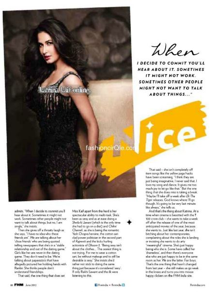 Katrina Kaif - FHM Magazine Pictorial [India] (July 2012)
