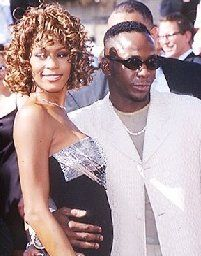 Whitney Houston Bobby Brown and