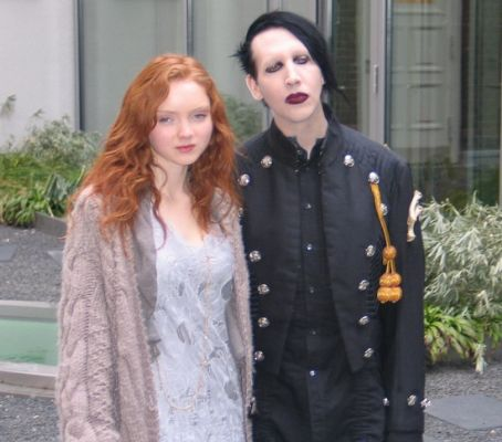 Lily Cole  and Marilyn Manson