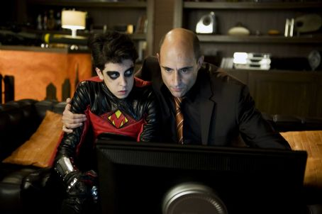 Red Mist (Christopher Mintz-Plasse, left) and Frank D'Amico (Mark Strong, right) in KICK-ASS. Photo credit: Dan Smith