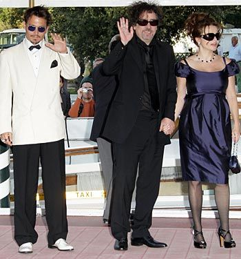 Helena Bonham Carter Helena Carter, Tim Burton, and Johnny Depp