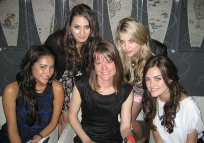Troian Bellisario Pretty Little Liars with Sarah Shephard