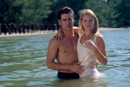 American Outlaws Colin Farrell and Ali Larter in Warner Brothers'  - 2001