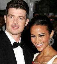 Robin Thicke  with Wife