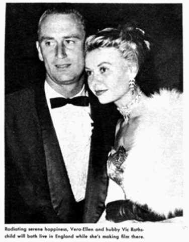 Vera-Ellen Vera- Ellen and Victor Rothschild