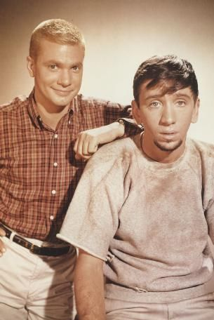 Bob Denver  and Dwayne Hickman