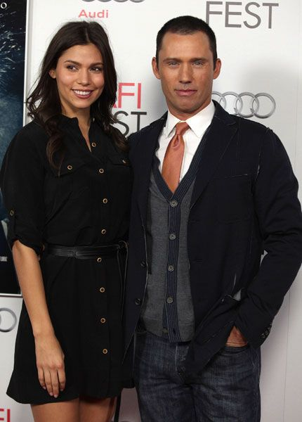 Jeffrey Donovan and Michelle Woods