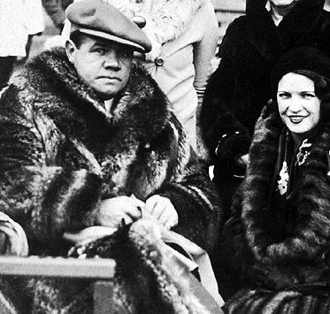 Babe Ruth  and Claire Merritt Hodgeson