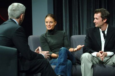 Gabrielle Anwar  with Anderson Cooper and Noah Wyle