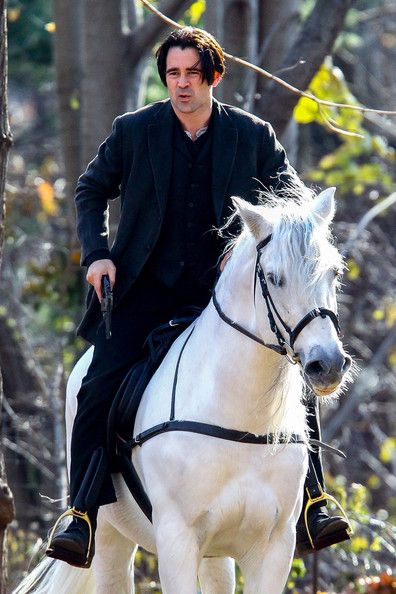 Colin Farrell Gallops Around NYC