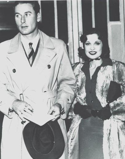 Errol Flynn  and Lili Damita