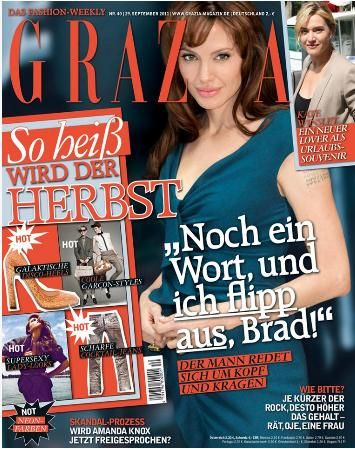 Angelina Jolie - Grazia Magazine Cover [Germany] (29 September 2011)
