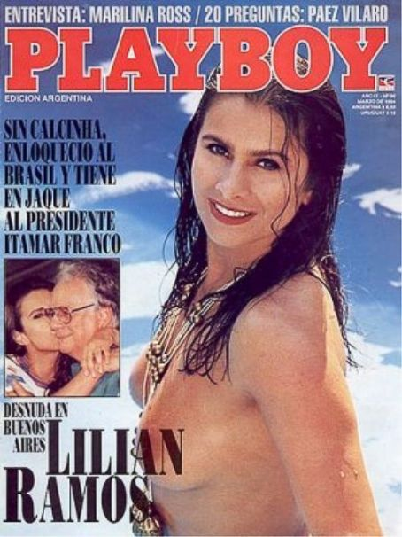 Lilian Ramos, Itamar Franco - Playboy Magazine Cover [Argentina] (March 1994)