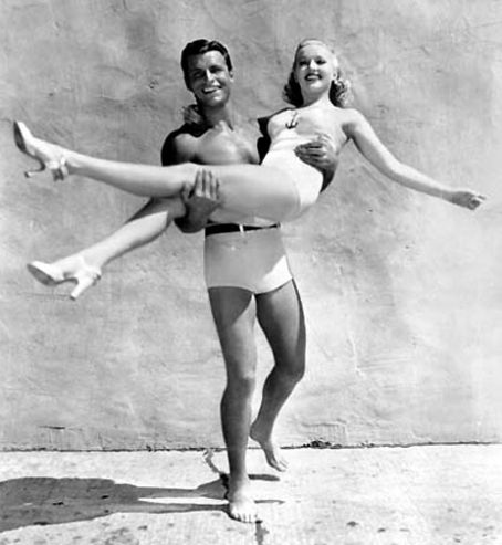 Betty Grable  and Buster Crabbe