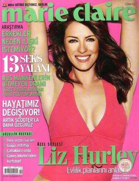 Elizabeth Hurley - Marie Claire Magazine Cover [Turkey] (September 2005)