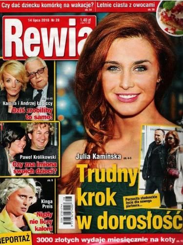 Julia Kaminska - Rewia Magazine Cover [Poland] (14 July 2010)